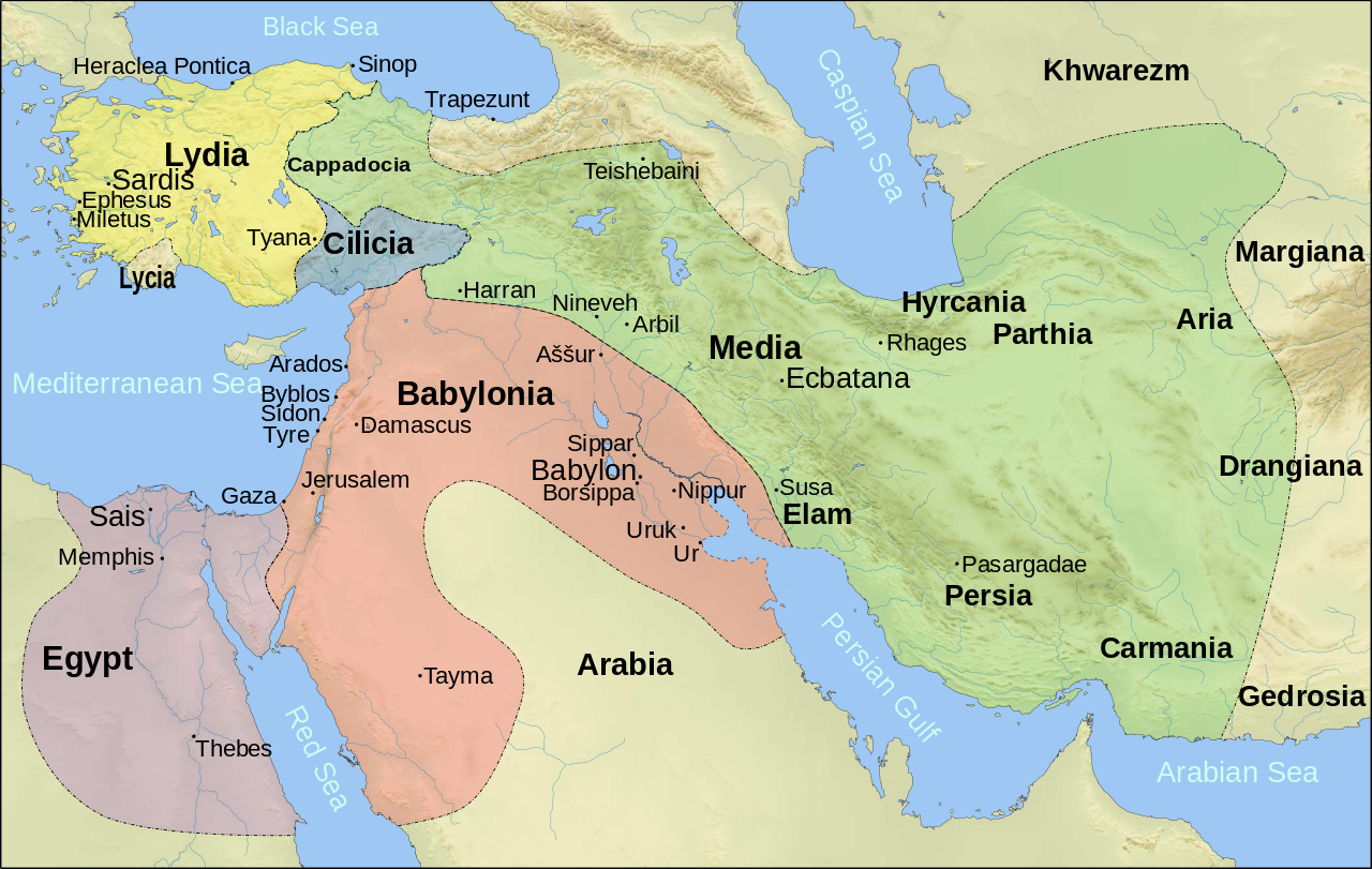 Middle East 6th Century By Szajci Map Middleeast