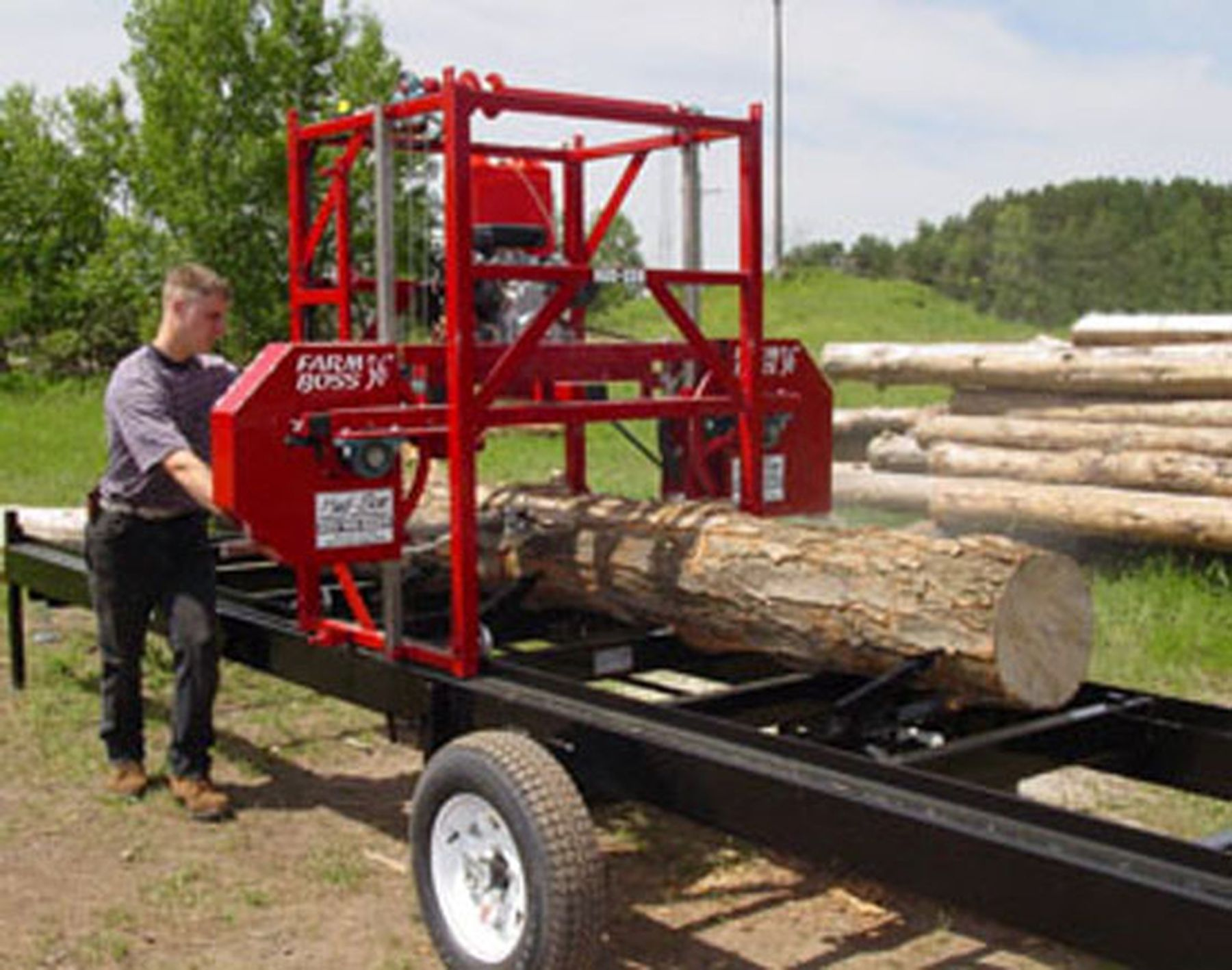 Portable Sawmill Cut Lumber Ohio Saw Mill Al Zinn