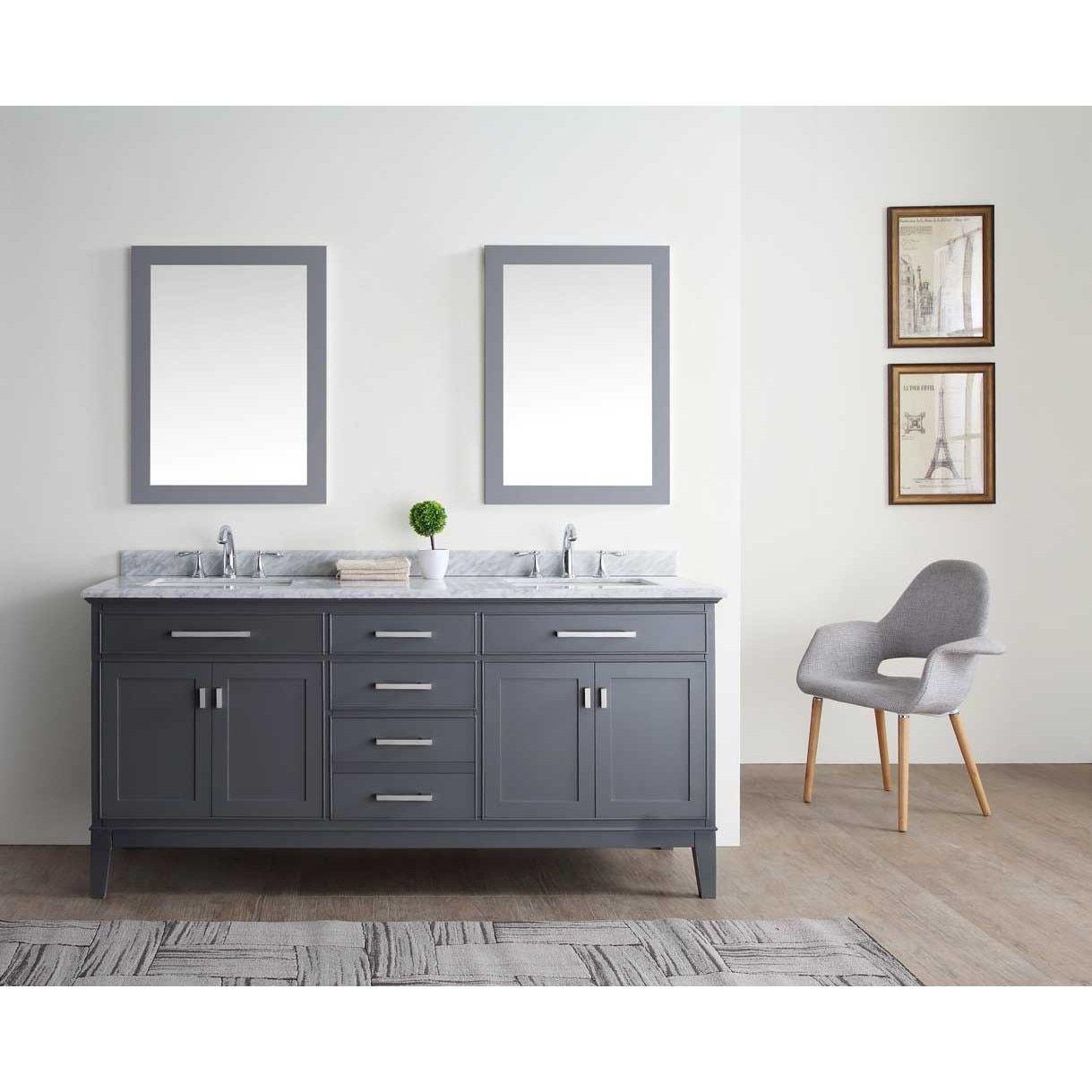 Ari Kitchen and Bath Danny 72-inch Double Bathroom Vanity Set ...