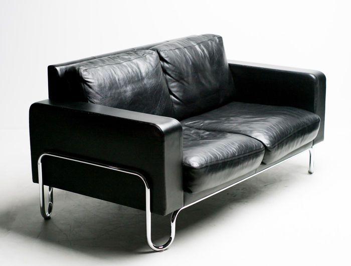 Gispen Leren Bank.Gispen Door Dutch Originals Ad B2 Design Bank In Zwart Leer