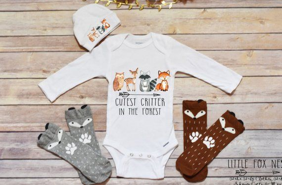 822f43c7b Boho Baby Clothes, Baby Girl Clothes, Fox Shirt, Raccoon Shirt, Woodland  Creatures, Woodland Critter