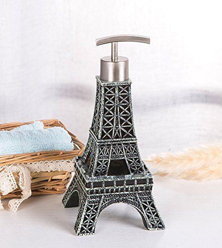 Decorative Eiffel Tower Metal Soap Dispenser   Paris ...