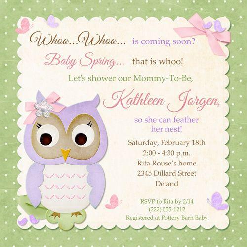 Butterfly Owl Baby Shower Invitation - Pastel Birdie Whoo Fresh - fresh birthday invitation baby girl
