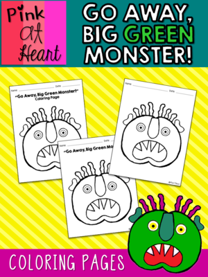 Go away big green monster coloring pages freebie from kac2877 from