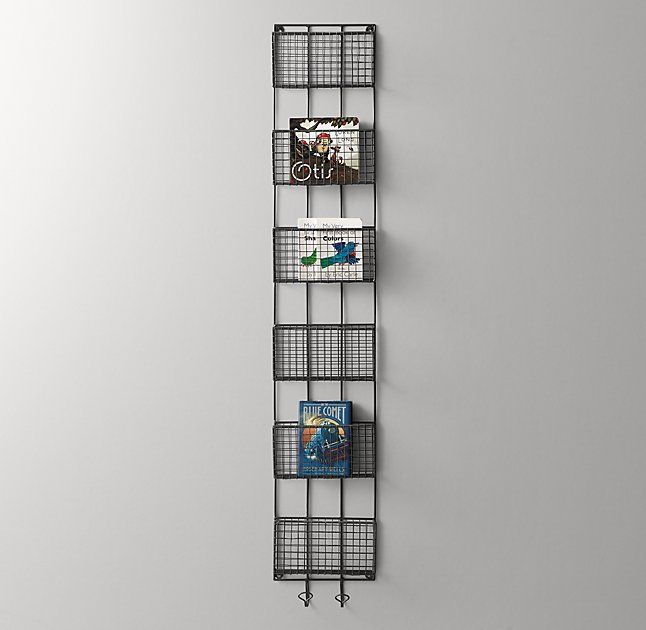 Industrial Wire 6-Cubby Book Display - Zinc | Décor Do\'s ...