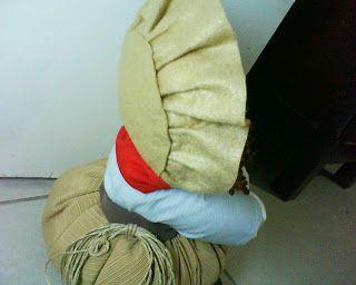 Artesanato da Maura: peso de porta gaúcho e prenda