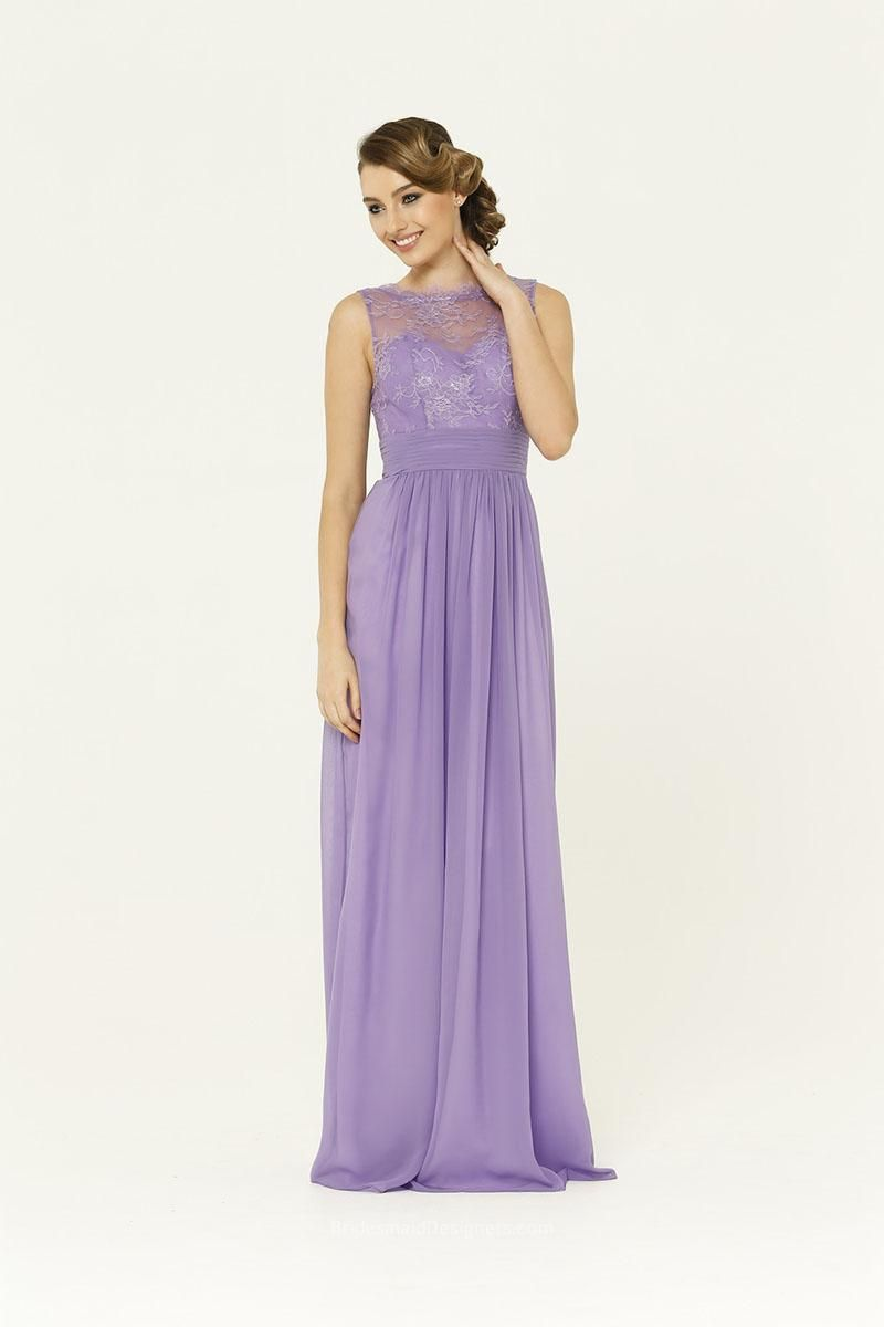 Lilac Illusion Lace Traditional Bridesmaid Dress   My Polyvore Finds ...