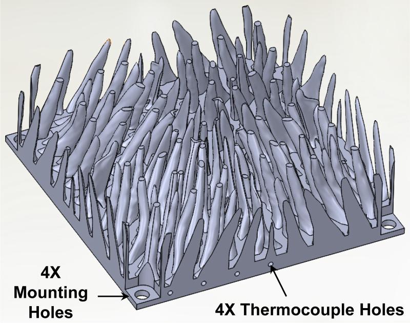 Highly Efficient Cooling Fins Mechanical Design 3d Printing Design