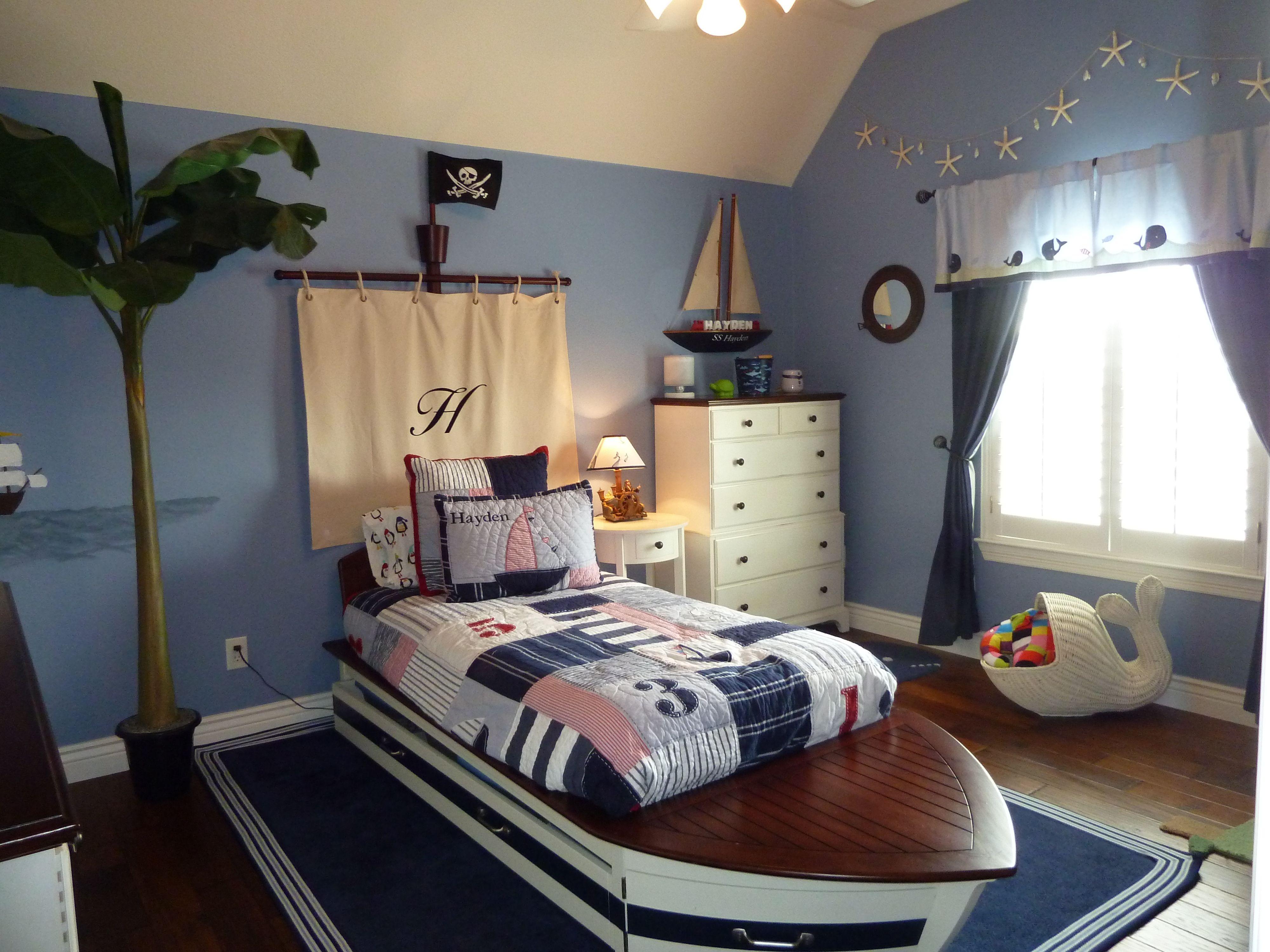 Boys Nautical Pirate Themed Bedroom | Kids Room ...