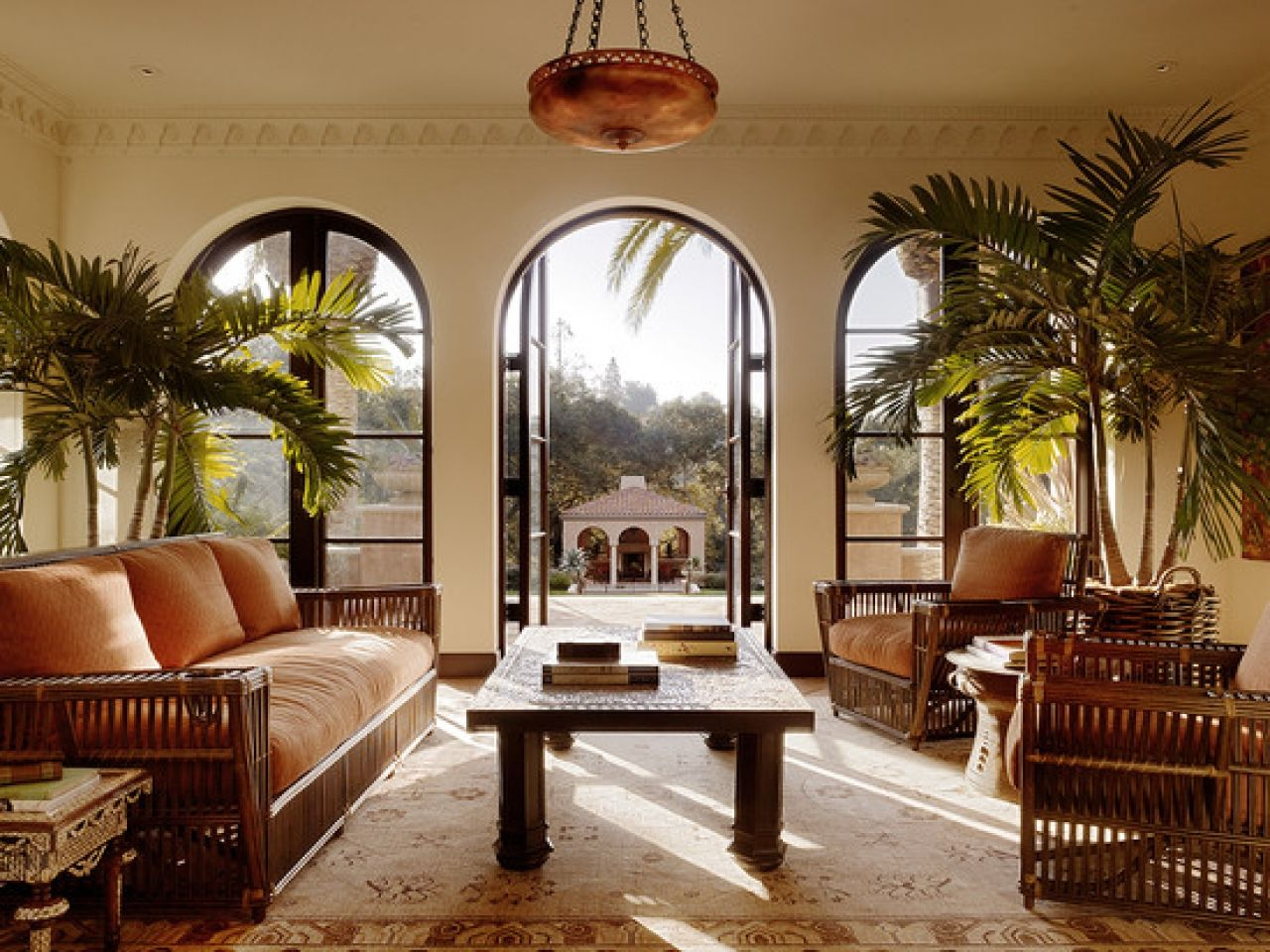British West Indies Style Colonial Living Room