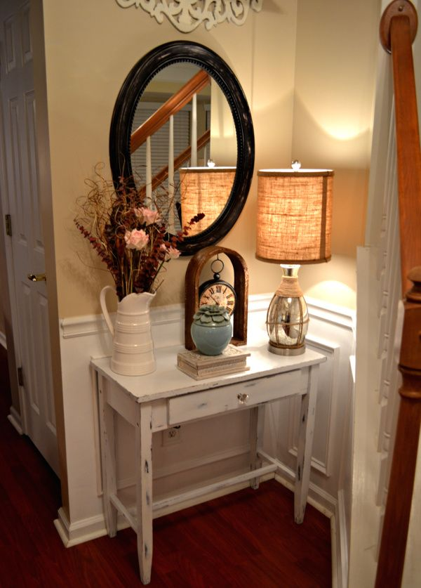 Delicieux Shabby Chic Foyer TAble 001 DIY Shabby Chic Table {Distressing Tutorial}