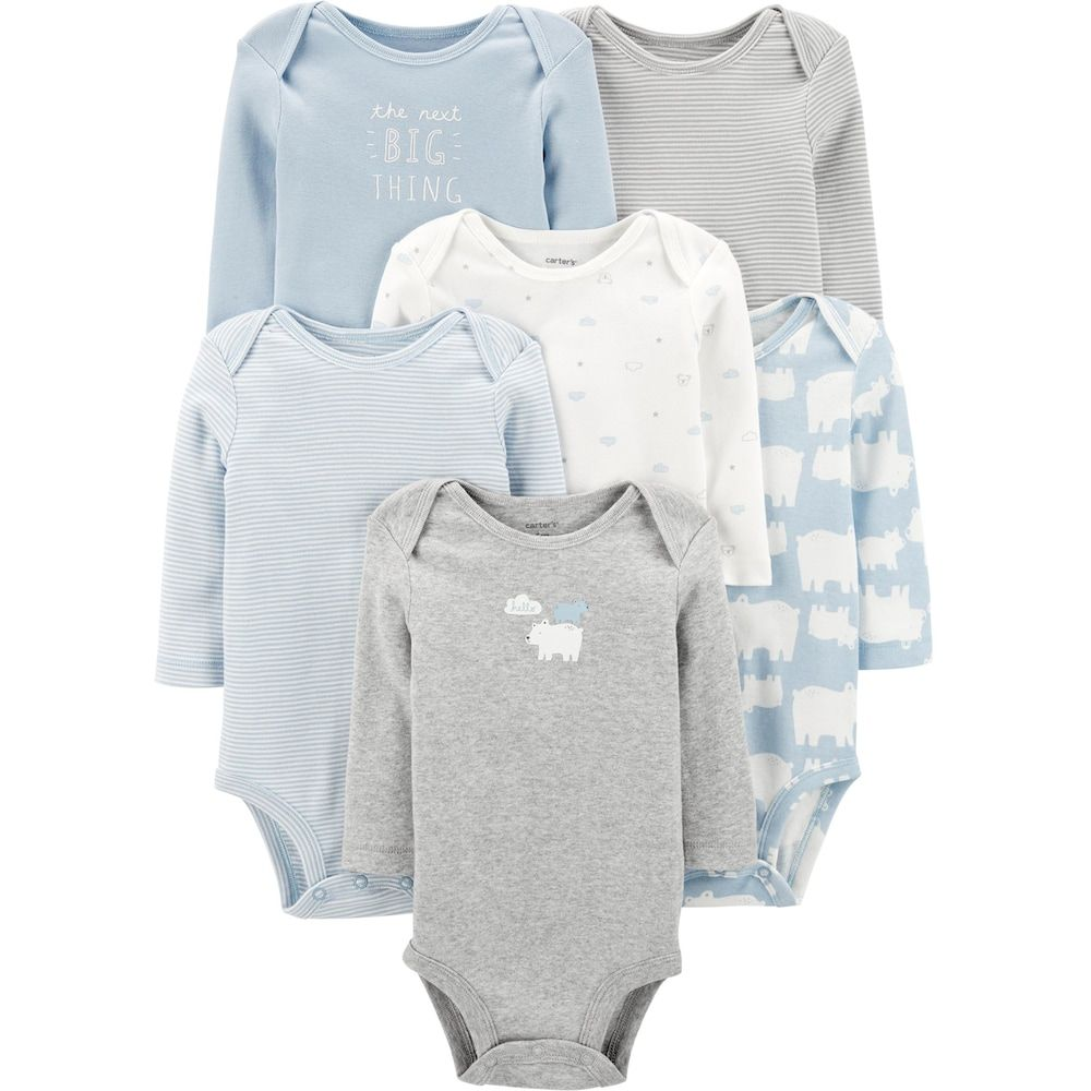 3PC Baby Boy Kids Toddler Long Sleeve Bodysuit Cotton Clothes 3-6-9-12-18M