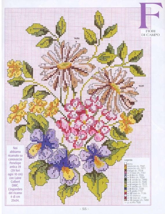 Gallery.ru / Фото #54 - 24 - Mosca | Цветы, вышитые ...