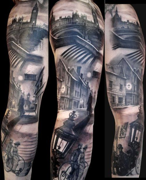 Incredible London Sleeve Arm Sleeve Tattoos Victorian Tattoo Full Sleeve Tattoo