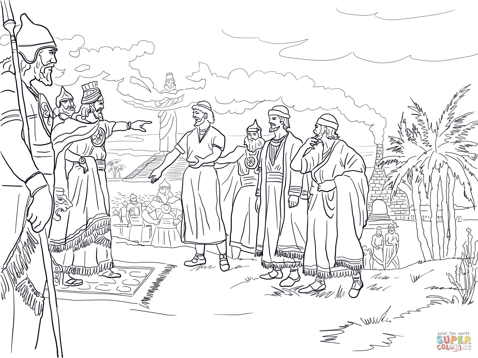 coloring pages meshach abendego - photo#16