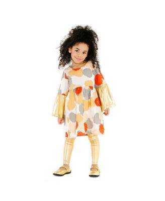 092f98f789be Masala Baby Girls Organic Cotton Simple Dress Pointe Metallic ...