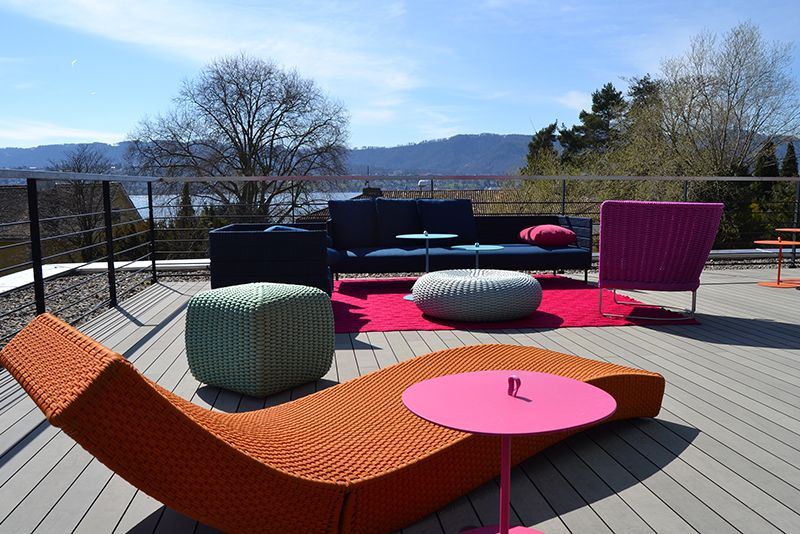 Esthec Terrace At Colombo La Famiglia, Redbox Haus In Zollikon,  Switzerland. Design Furniture: Paolo Lenti.