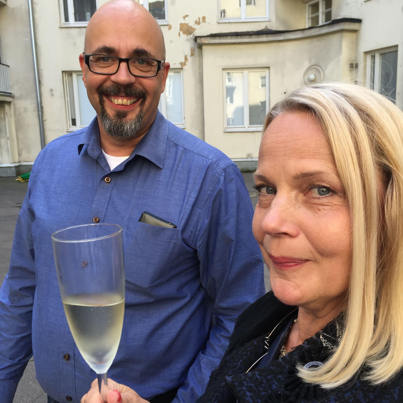 Ykköspartnerit, kehittäjät, mahtavat tyypit Mika Kortelainen ja MIrja Borgström