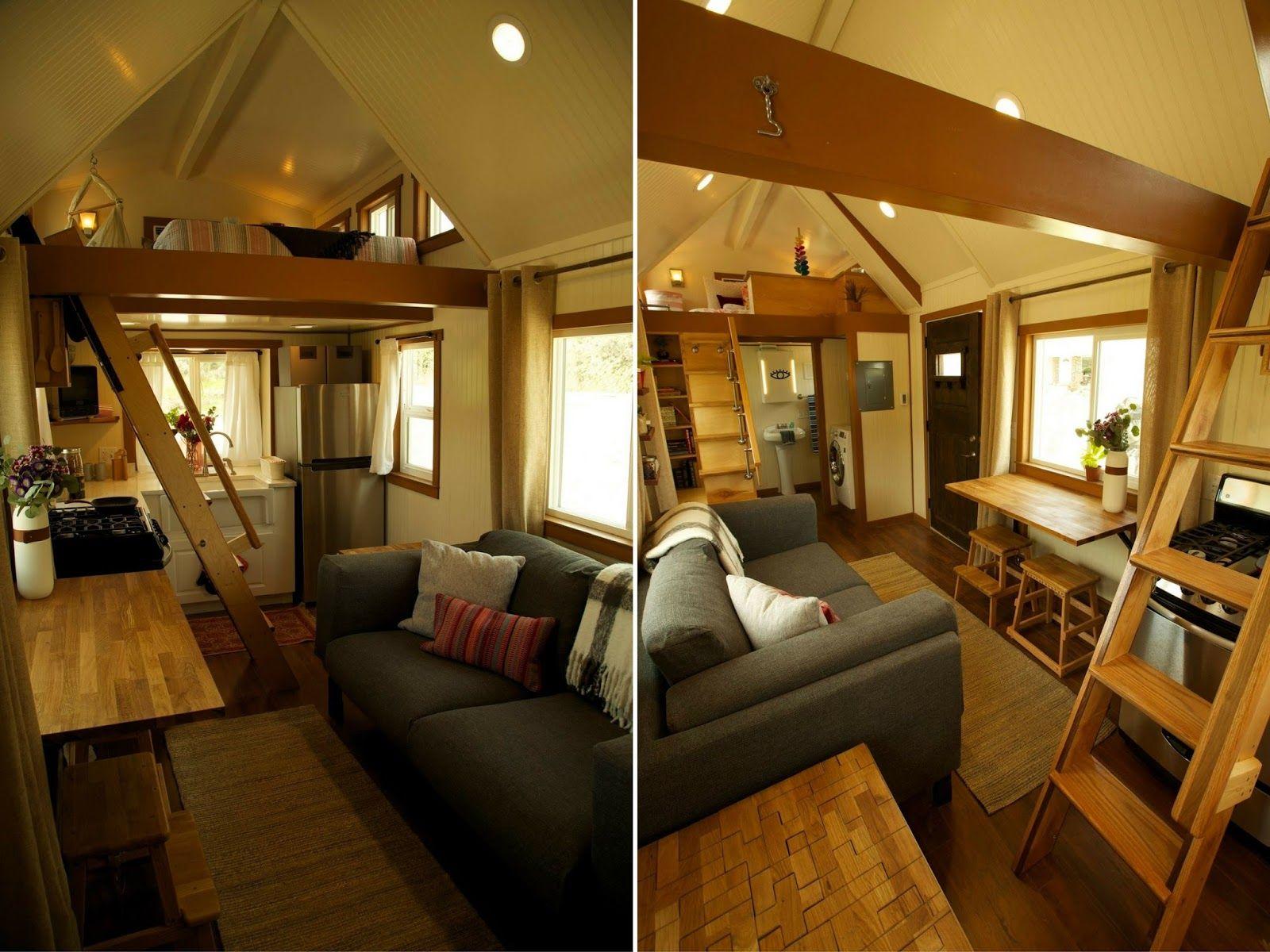 The 200 Sq Ft Family Tiny Home Tiny House Layout Tiny House Big
