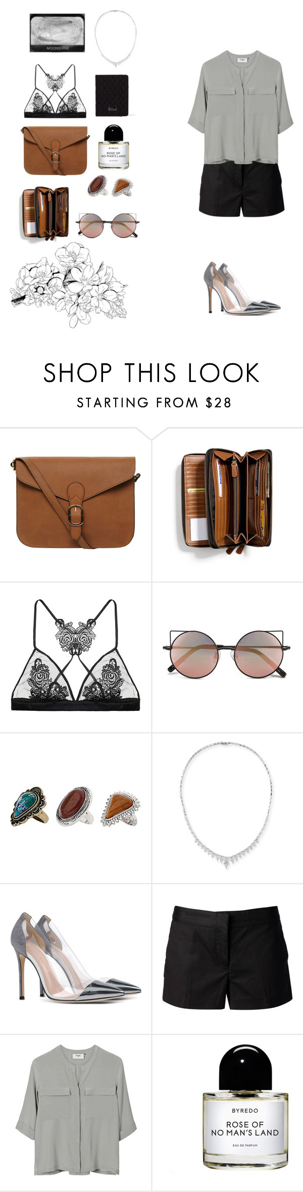 """""""Moonshine"""" by mona-sml ❤ liked on Polyvore featuring Dorothy Perkins, Coach, Fleur of England, Linda Farrow, Topshop, Stephen Webster, Gianvito Rossi, MICHAEL Michael Kors, PYRUS and Byredo"""