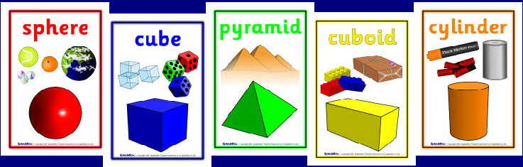 3D Shape Posters, free downloads Shapes activities