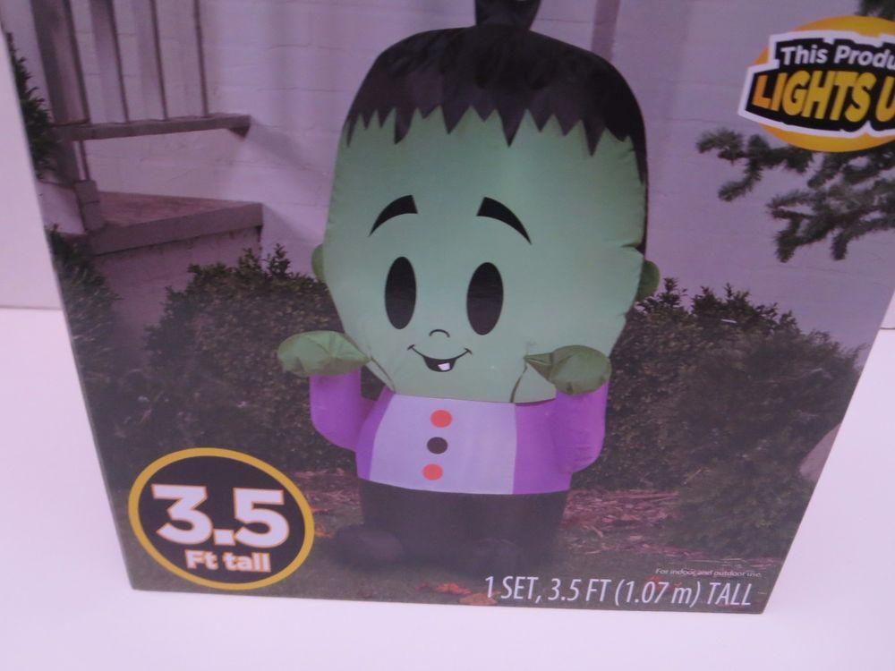 Halloween Inflatable Happy Monster 35\u0027 X 2\u0027 Halloween Decoration - inflatable halloween decoration