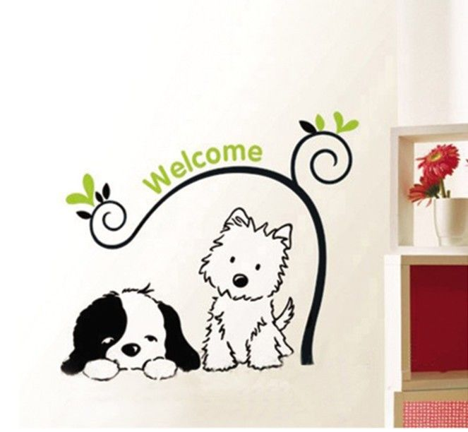 wall decals dog - Google Search | The Groom Room ...