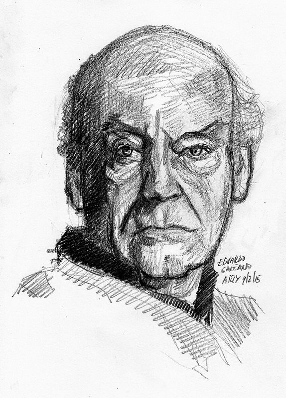 Eduardo Galeano For Pifal Character Sketches Male Sketch Portrait