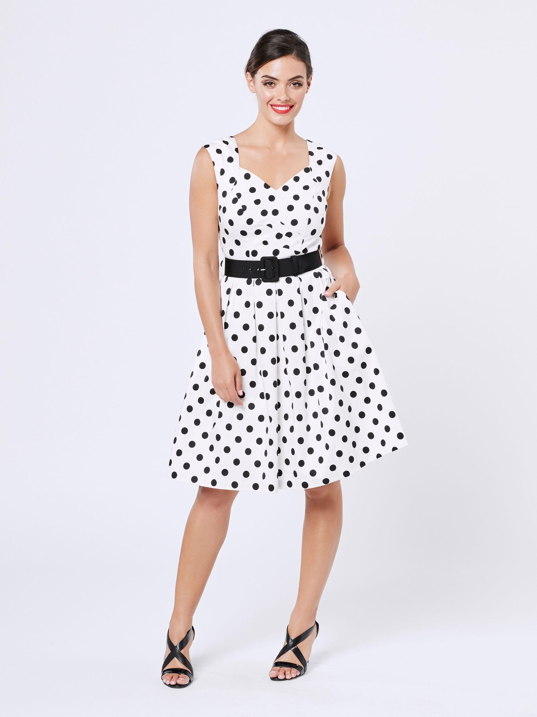 Hattie Spot Dress