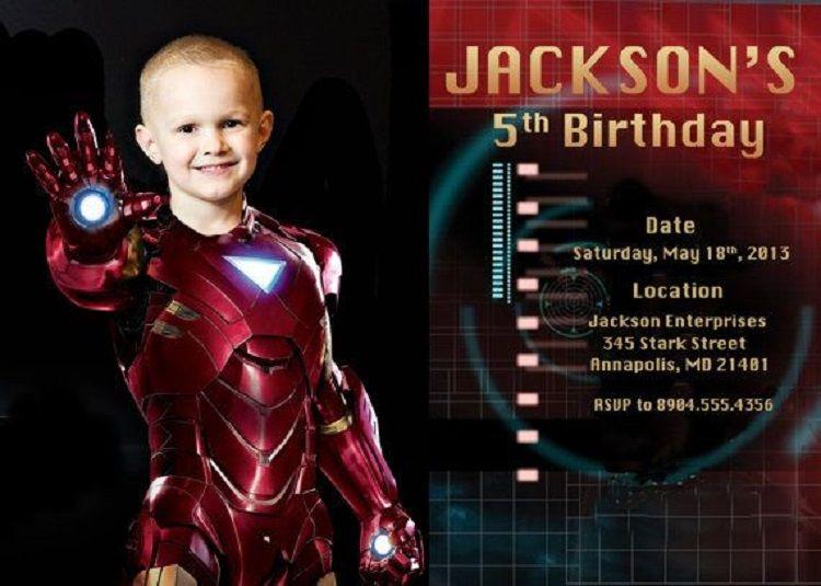 Iron Man Birthday Invitation Wording Free Printable Invitations Party 14th