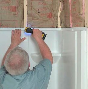 Installing a Direct-to-Stud Shower Enclosure at The Home Depot ...