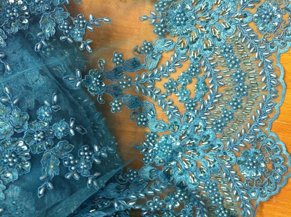 Heavy beaded high grade african bridal lace fabric uk wedding dress ...