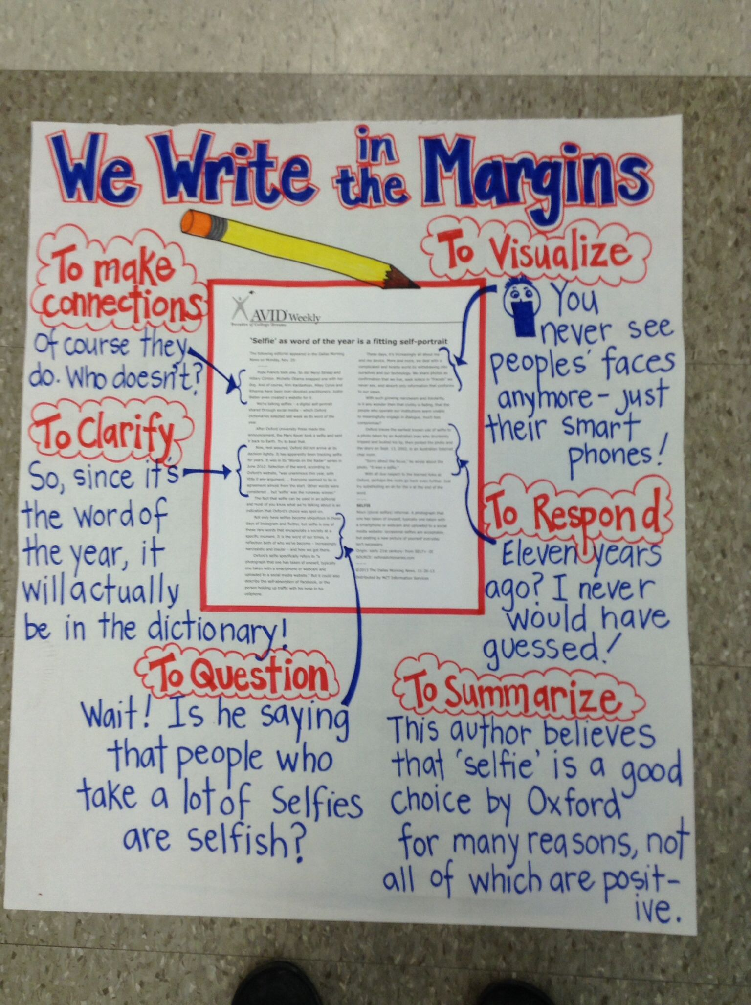Anchor chart write in the margins Anchor