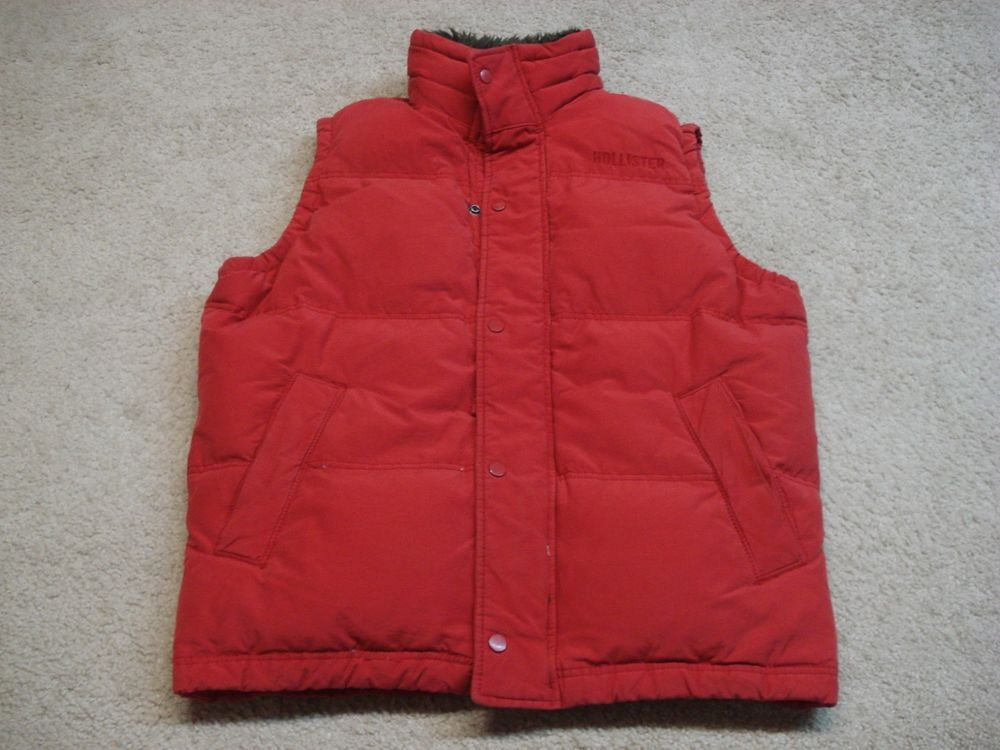 c23add71fb Men s Hollister down winter vest jacket coat XL extra large Red  fashion   clothing