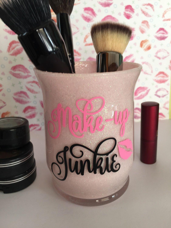 Vanity Glitter Makeup Brush Organizer Makeup Brush