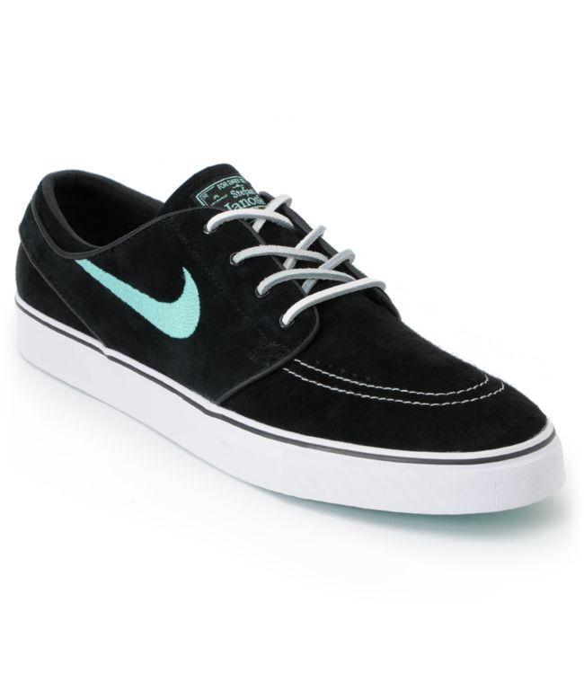 Nike SB Zoom Stefan Janoski Black & Mint Suede - $78 (ZUMIEZ)