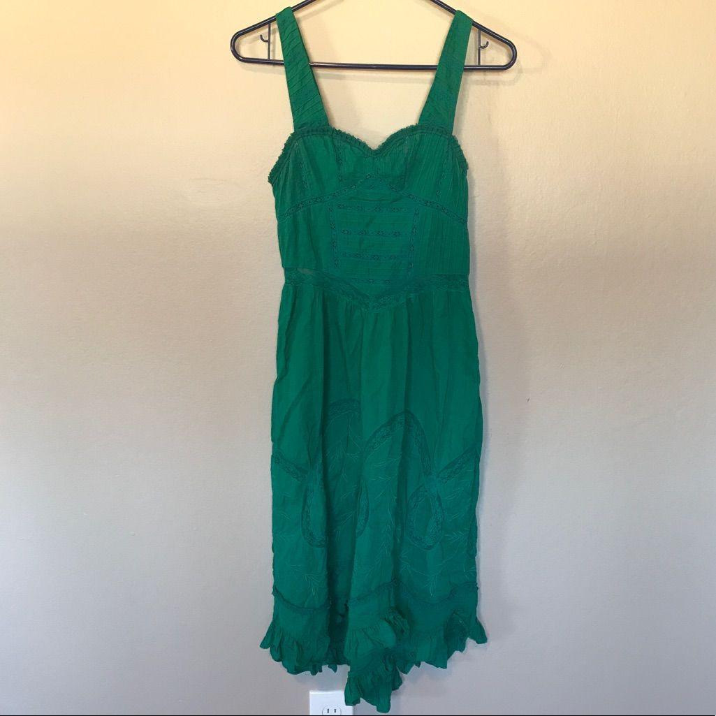 Free People Gorgeous Teal Midi Dress