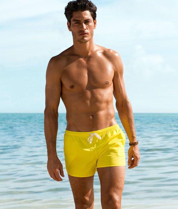 dd43044809 Tyson Ballou Hits the Beach in H&M Swimwear   A hunk of...Yes ...