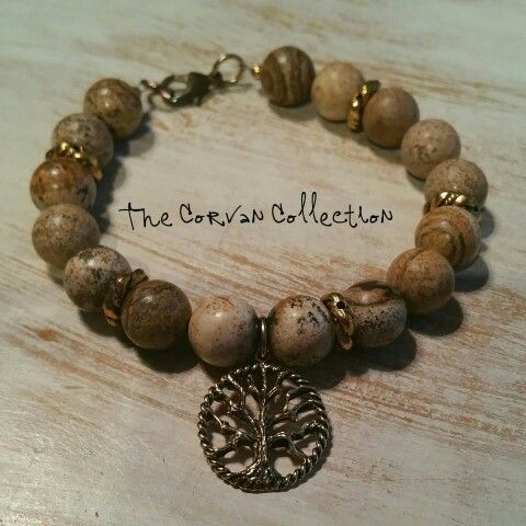 The Gold Tree of Life Bracelet from The Corvan Collection www.thecorvancollection.com