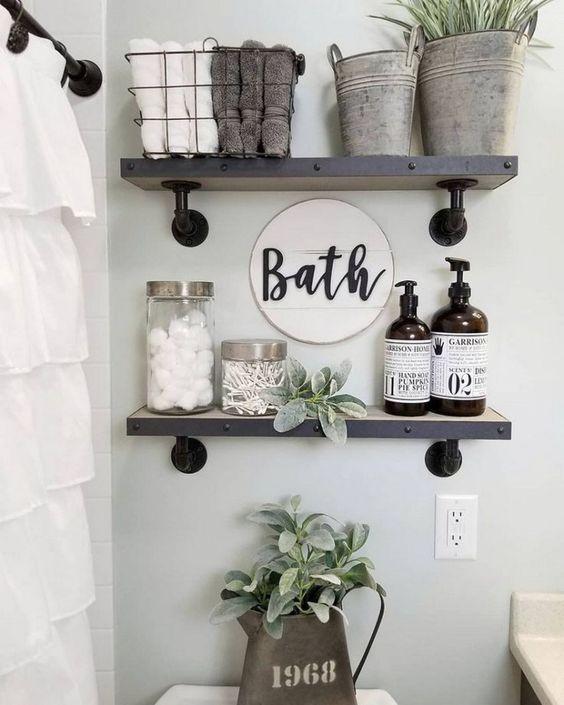 48 Bathroom Shelf DIY For Starting Your Home Improvement - Home Decor Originals