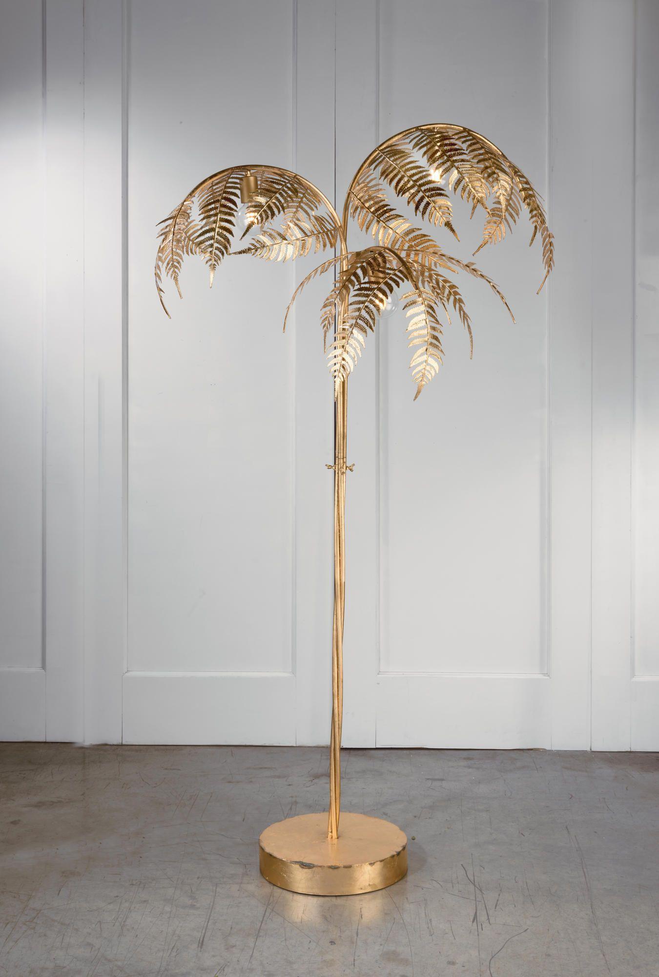 Gold Palm Tree Lamp Tripar International Inc In 2020 Tree Lamp Art Deco Floor Lamp Gold Floor Lamp