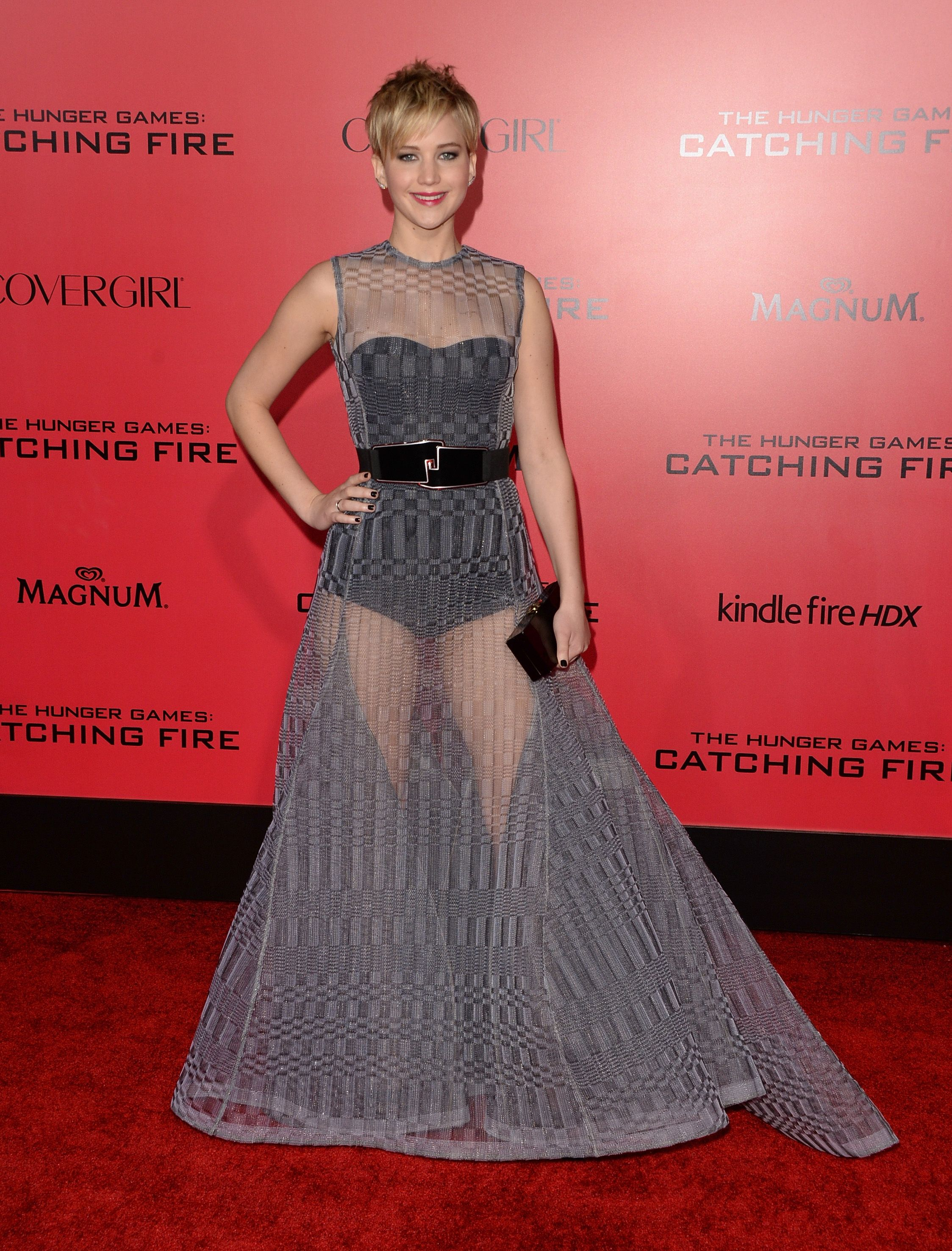jlaw's red carpet style transformation from her first hunger games