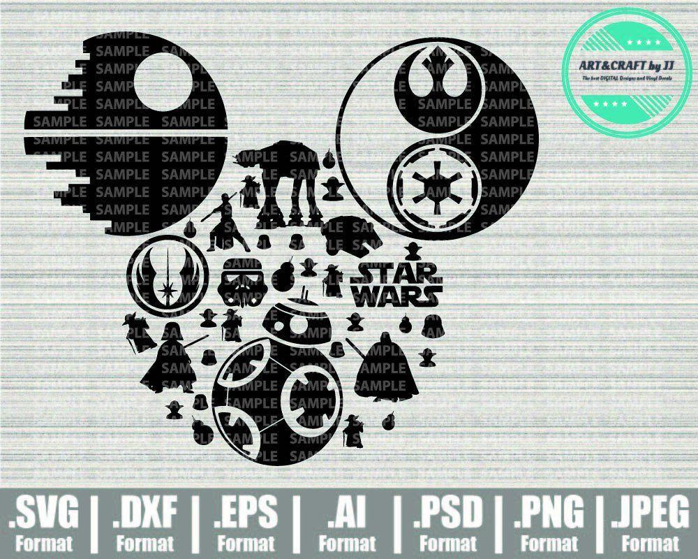 Mickey Mouse svg Minnie Mouse svg Star Wars svg Disney SVG