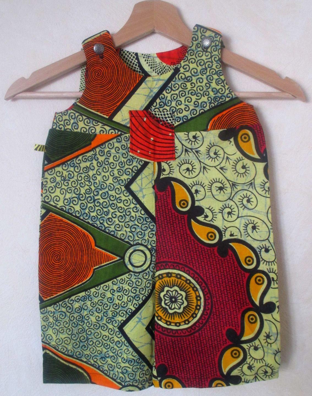 Sehr Salopette bébé en tissu africain | couture | Pinterest | Salopette  SE44