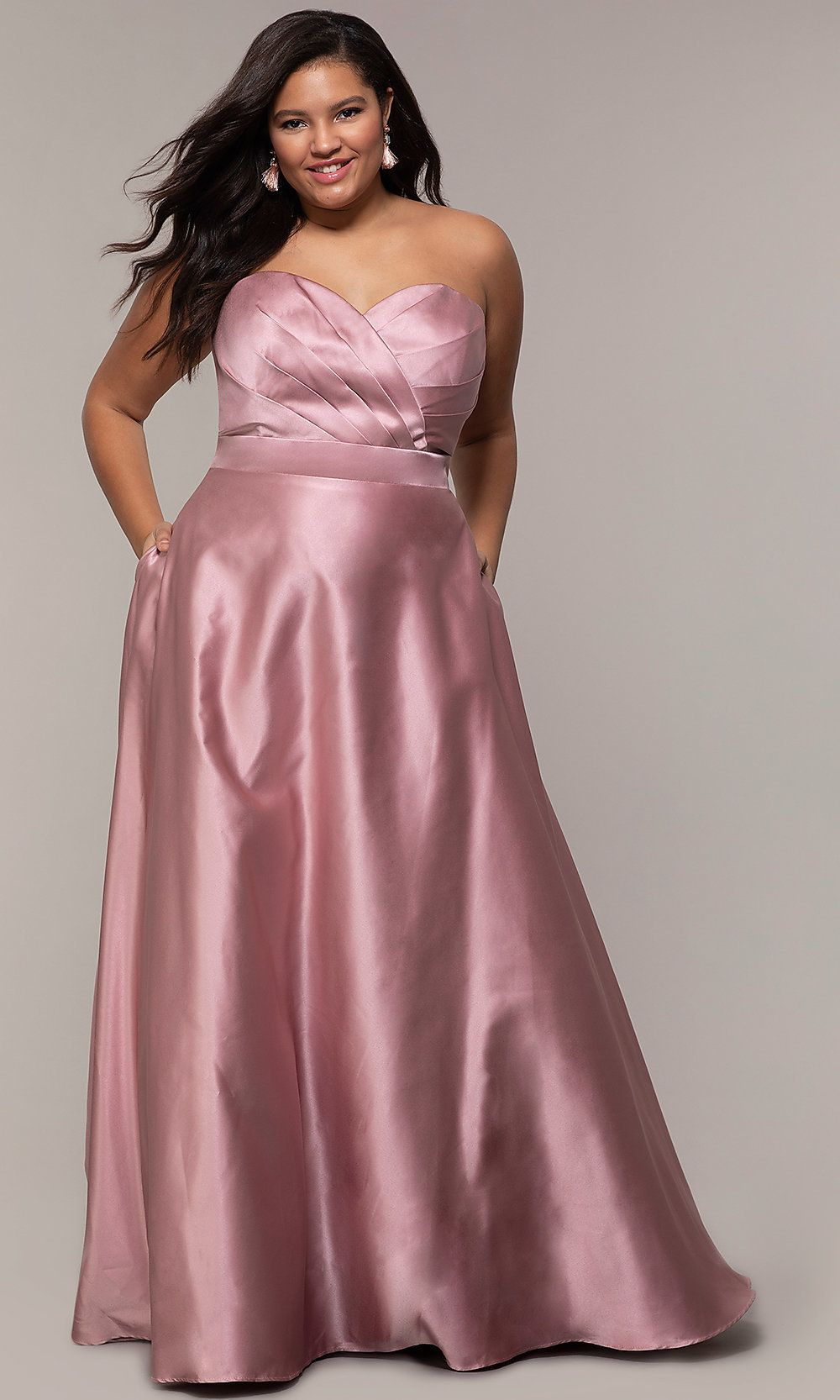 Corset plussize long formal dress with pockets in 2020
