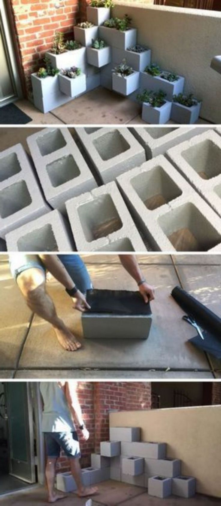 35+ Creative DIY Cinder Block Ideas to Decorating Your Outdoor Space #betonblockgarten Assembling a Cinder Block Garden is among the very truly effective approaches to utilize a minimum amount of space to Boost your own vegetables. #cinderblocks #outdoorideas #betonblockgarten