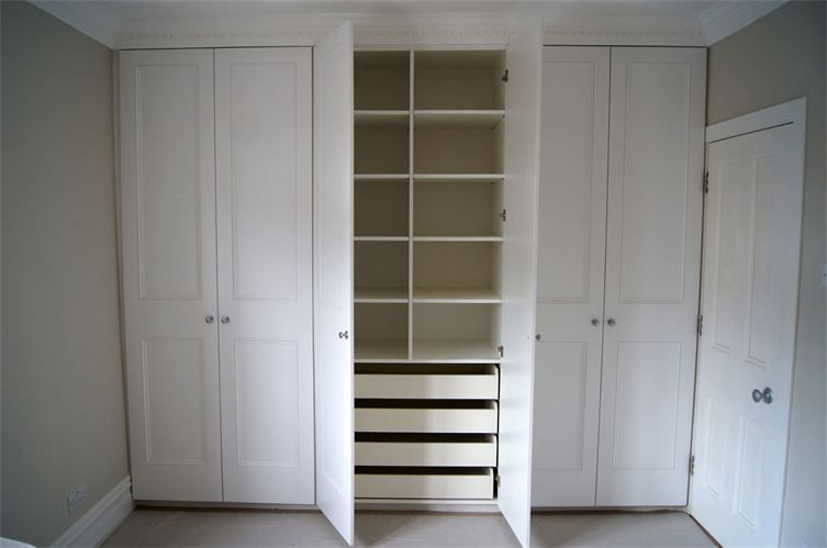 Fitted wardrobe hand made and painted six doors fitted for Inside wardrobe storage