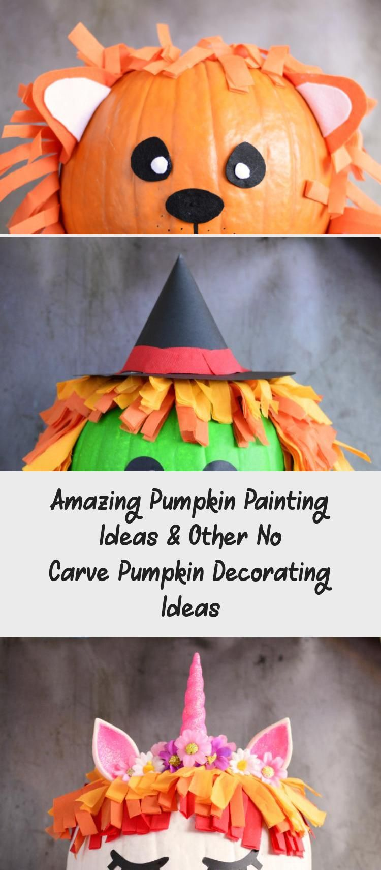Amazing Pumpkin Painting Ideas & Other No Carve Pumpkin Decorating Ideas #paintingideasForFurniture #paintingideasForTeens #paintingideasAbstract #Couplepaintingideas #paintingideasOnPaper #pumpkinpaintingideas