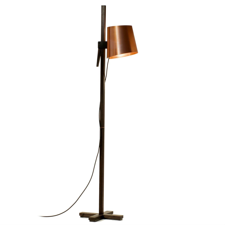 lampadaire ch ne noir cuivre h150cm croiz. Black Bedroom Furniture Sets. Home Design Ideas