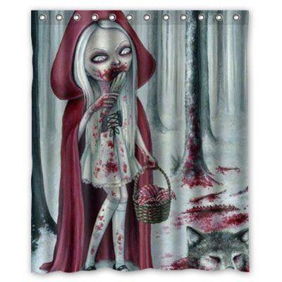 Zombie Girl Or Woman Custom Shower Curtain 60 X 72 Bathroom